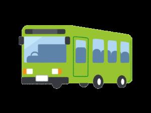 緑色のバス