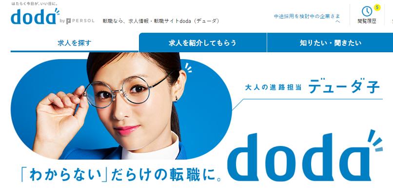dodaトップ画面