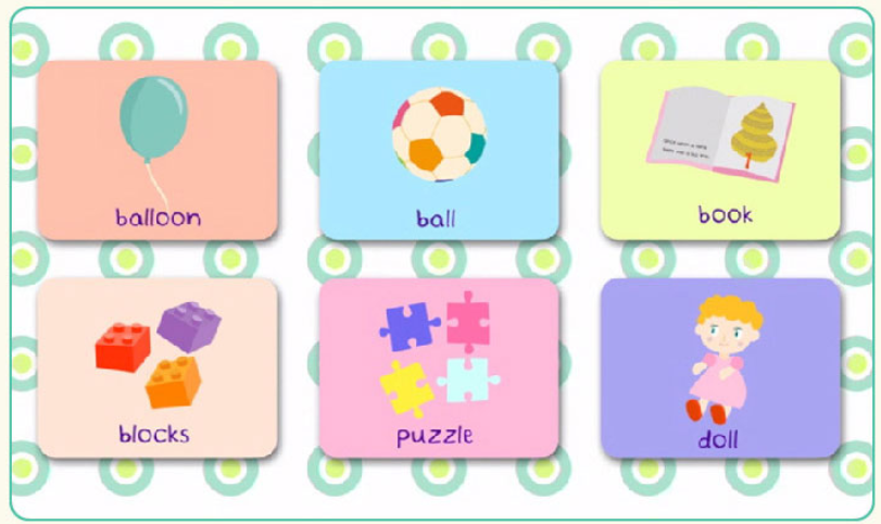 英単語のフラッシュカード