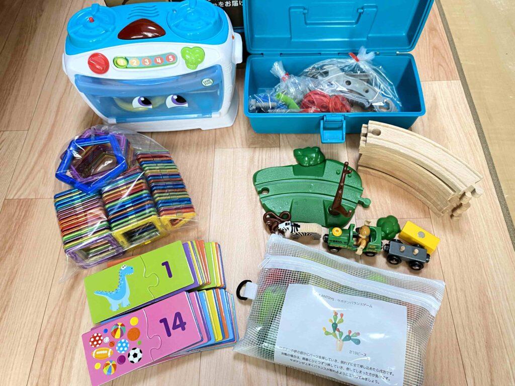 トイサブで届いたおもちゃ全部